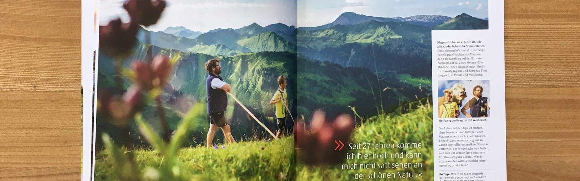 Vorarlberg Magazin Augenweide, 2017, Prospekte (c) Vorarlberg Tourismus GmbH