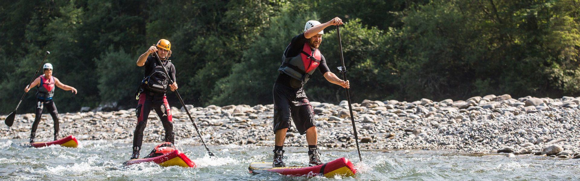 Wildwasser Stand Up Paddling, Bregenzerach, (c) Canyoning Team Vorarlberg