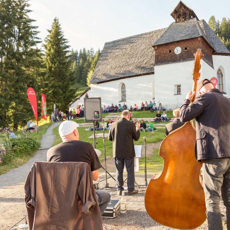 Montafoner Resonanzen, Musikfestival Montafon, Jazz Picknick am Kristberg (c) Andreas Haller, Montafon Tourismus GmbH