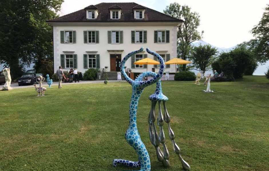 Kulturfestival, Skulptur Mario Dalpra, Blumenegger Sommer, Villa Falkenhorst, Thüringen (c) Harald Witwer, Facebook Villa Falkenhorst