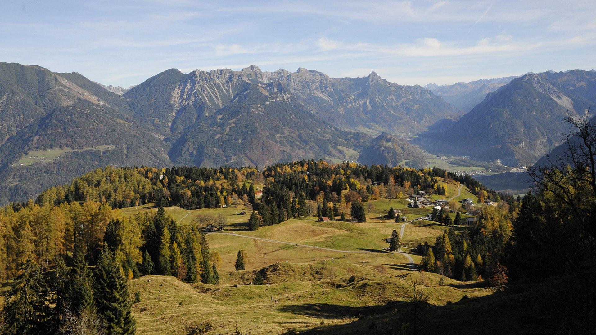 Hochplateau der Tschengla, Rundtour, Wandern im Herbst © Peter Freiberger / Vorarlberg Tourismus