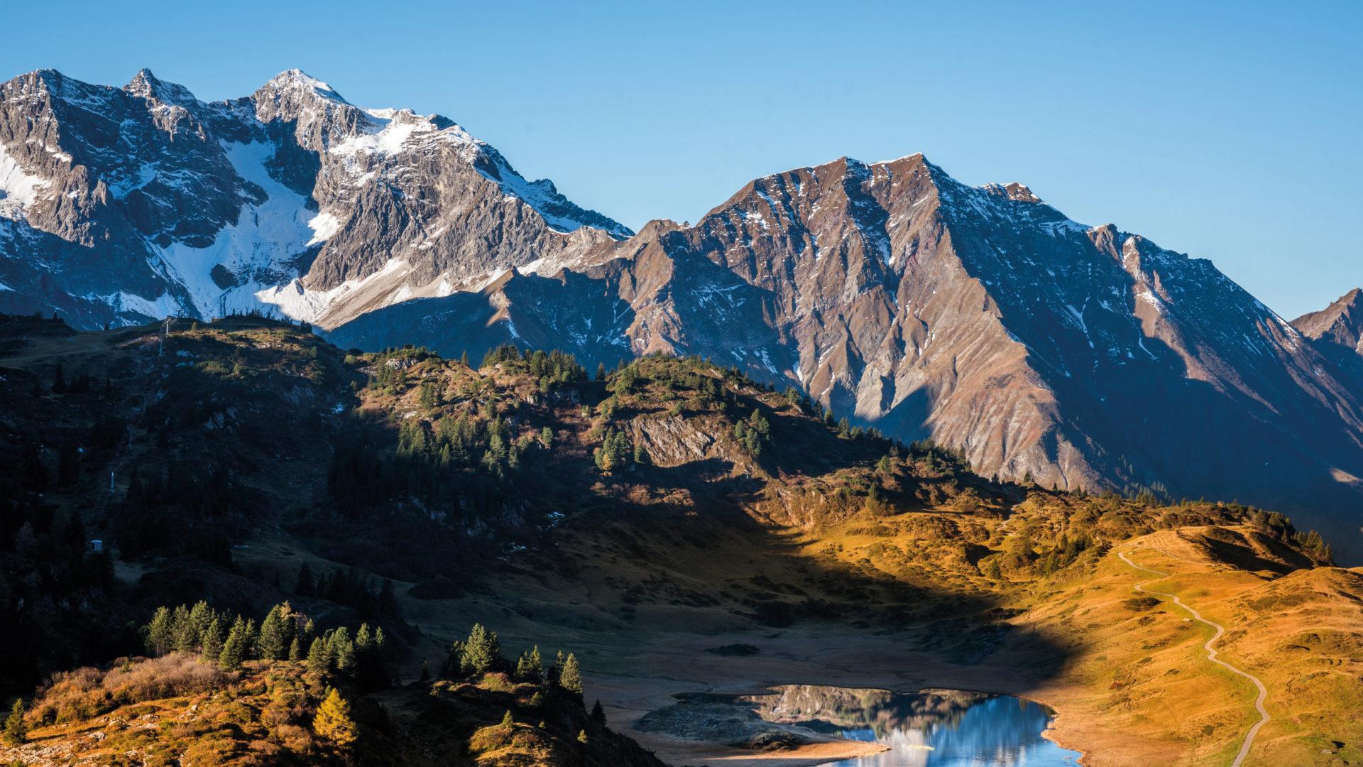Kalbelesee, Tannberg, Herbst in Vorarlberg © Ludwig Berchtold / Vorarlberg Tourismus