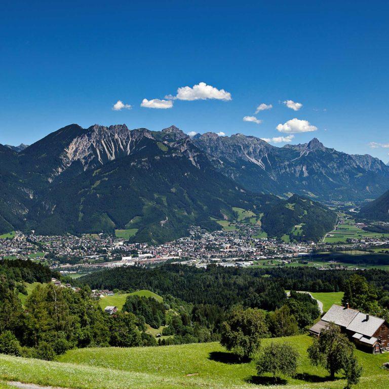Alpenstadt Bludenz, Stadterlebnis, Blick von der Tschengla (c) Carola Eugster, Bludenz Stadtmarketing GmbH
