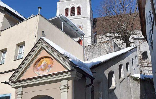 Bludenz-Stadterlebnis-Laurentiuskirche-Stiege(c)Friedrich-Böhringer