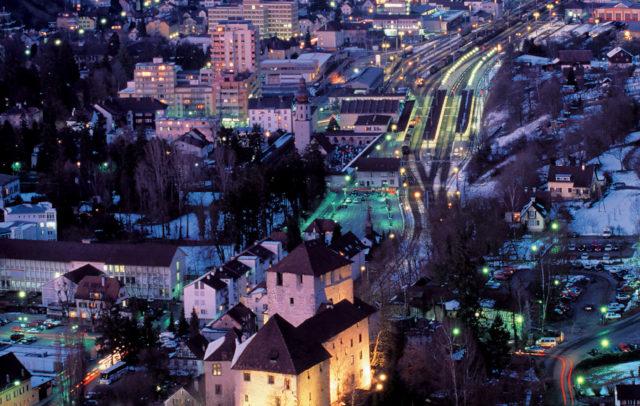 Feldkirch im Winter, Schattenburg, 800 Jahre Feldkirch © Oliver Noggler / Vorarlberg Tourismus
