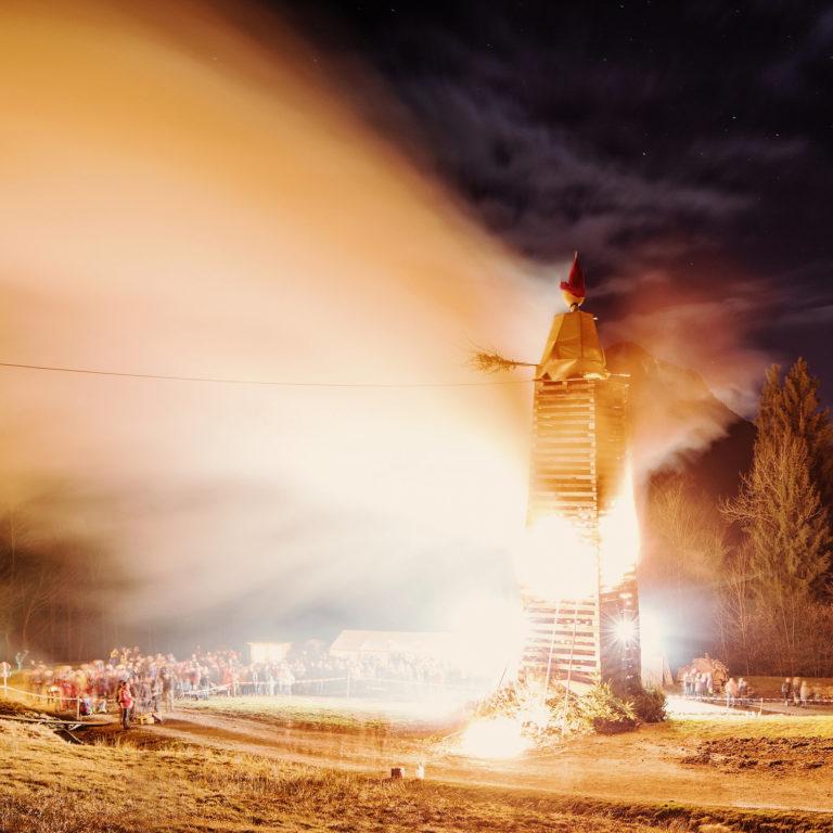 Funken, Kehlegg/Dornbirn, Bonfire Tradition © Markus Gmeiner / Vorarlberg Tourismus GmbH