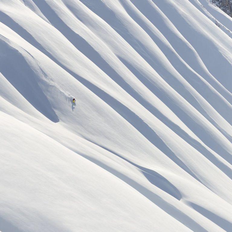 Freerider unterhalb Ruefispitze-Arlberg © Sepp Mallaun / Vorarlberg Tourismus