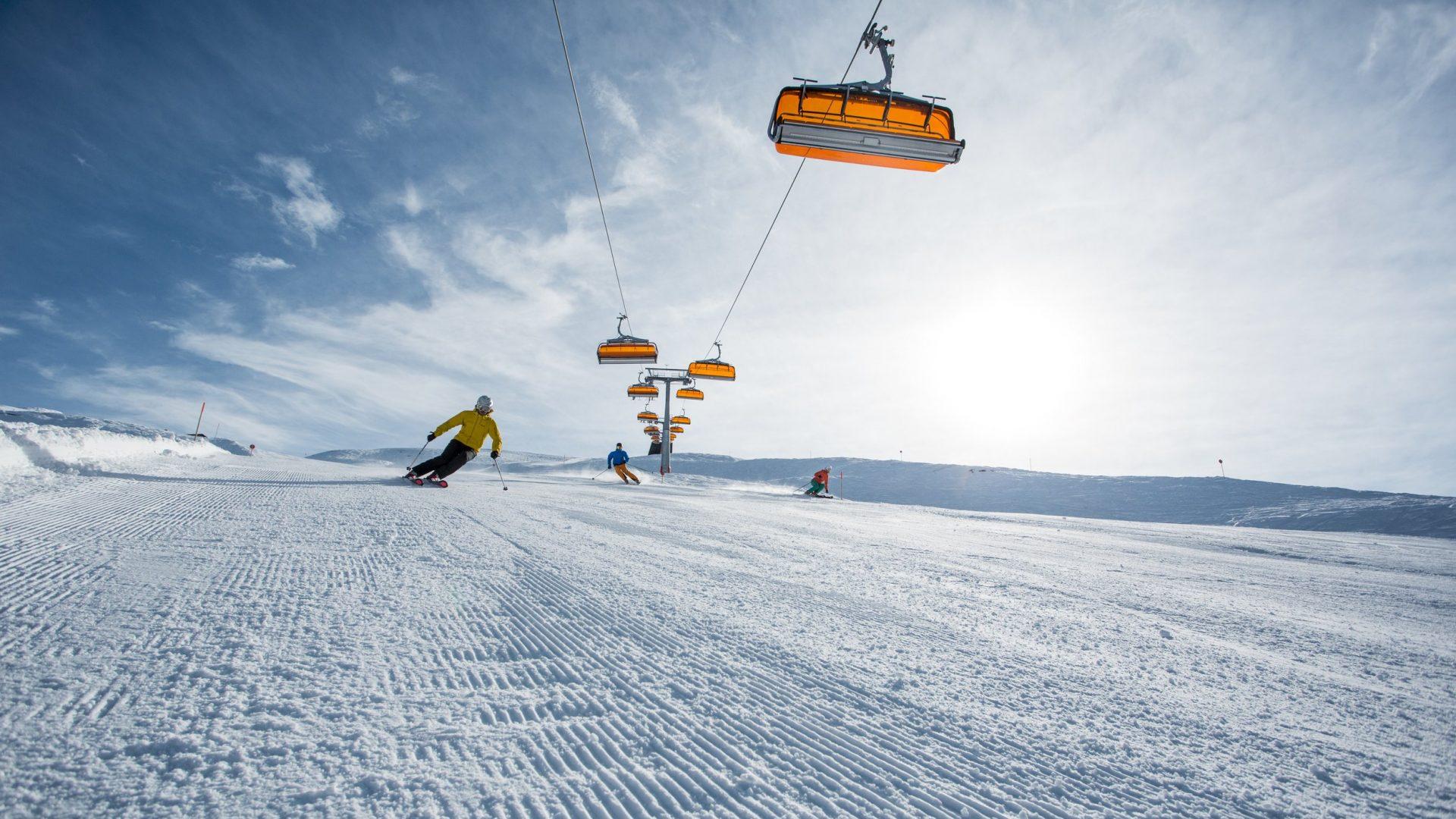 Skifahren im Montafon, Sonnenski © Daniel Zangerl / Montafon Tourismus GmbH, Schruns