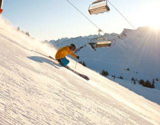 Skifahren am Diedamskopf, Sonnenski (c) Alex Kaiser / Bergbahnen Diedamskopf