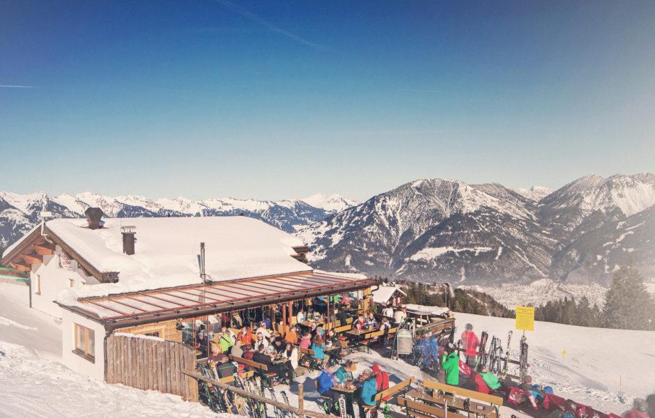 Skihütte Fuchsbau, Bürserberg © Markus Gmeiner / Vorarlberg Tourismus GmbH