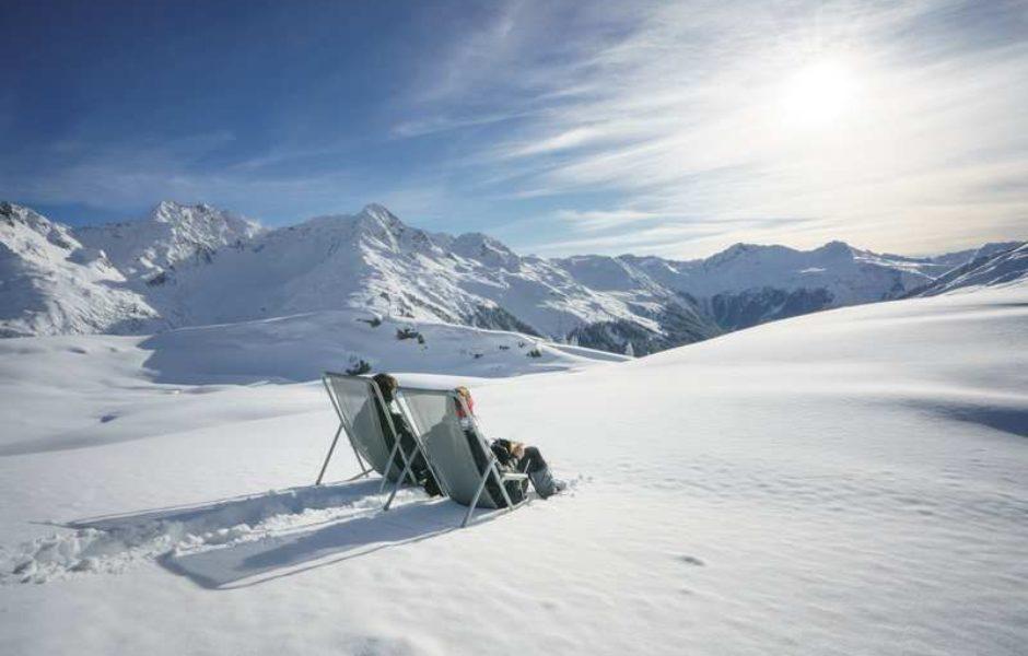 Sonnenski, Skigebiet Sonnenkopf, Ausblick Muttjöchle (c) Dietmar Denger / Vorarlberg Tourismus