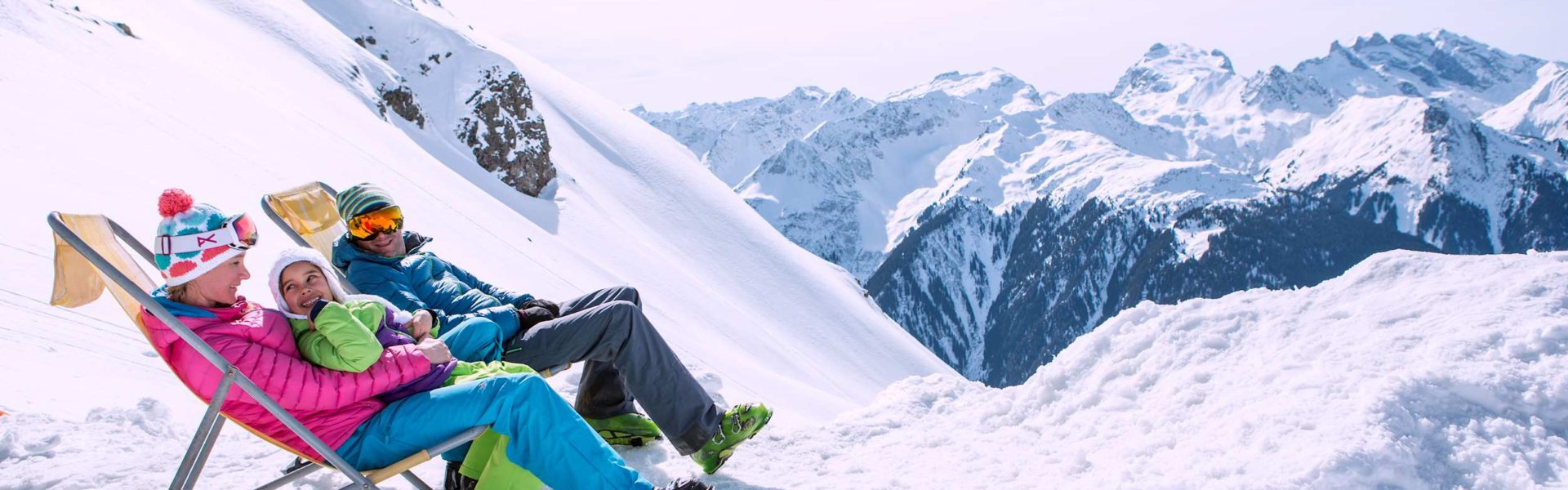 Sonnenski, Relaxen im Skigebiet Montafon (c) Daniel Zangerl / Montafon Tourismus GmbH