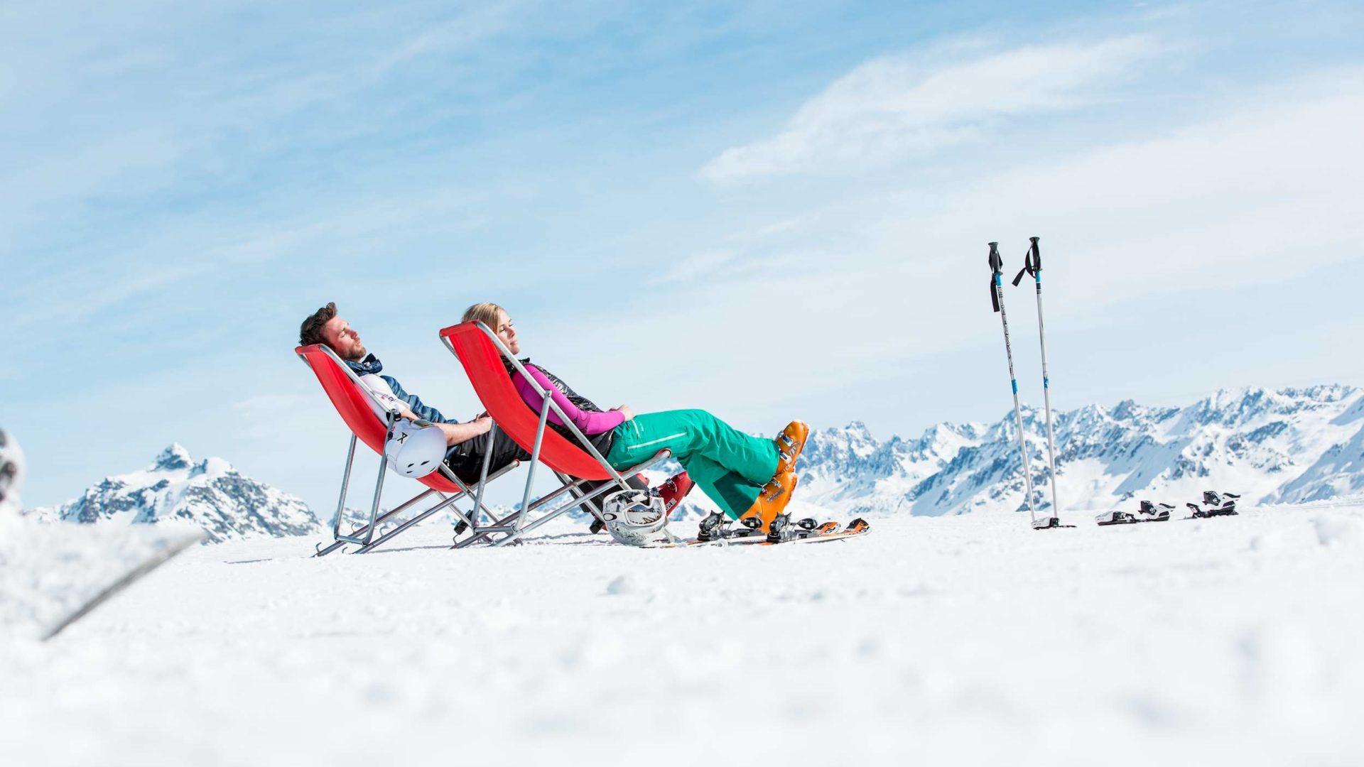 Sonnenski, Relaxen im Skigebiet, Urlaubsangebote, Kurzurlaub (c) Daniel Zangerl - Montafon Tourismus GmbH, Schruns