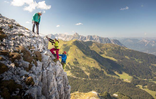 Klettersteig zur Gauablickhöhle (c) Stefan Kothner / Montafon Tourismus Gmbh