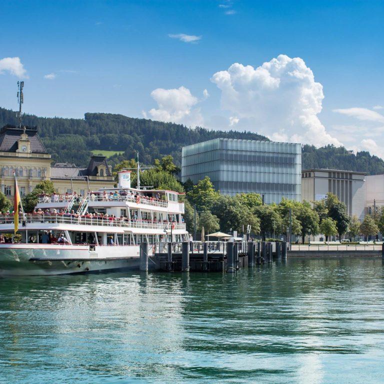 Bregenz am Bodensee, Vorarlberg Lines, Kunsthaus, vorarlberg museum (c) Petra Rainer / Bodensee-Vorarlberg-Tourismus