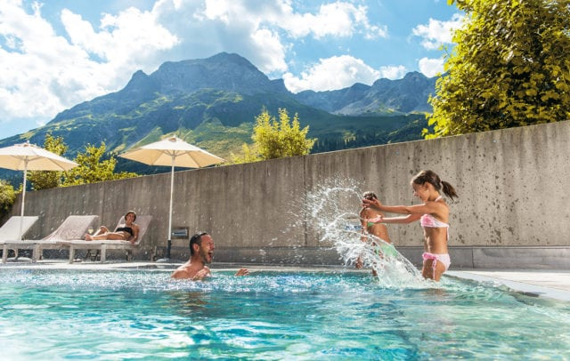 Top Family Familienhotel Rote Wand, Lech am Arlberg, Badespaß © Christian Schramm/Hotel Rote Wand
