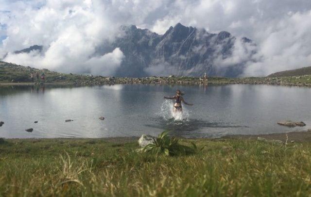 schwimmen im Kaltenbergsee (c) Katrin Preuss Vorarlberg Tourismus