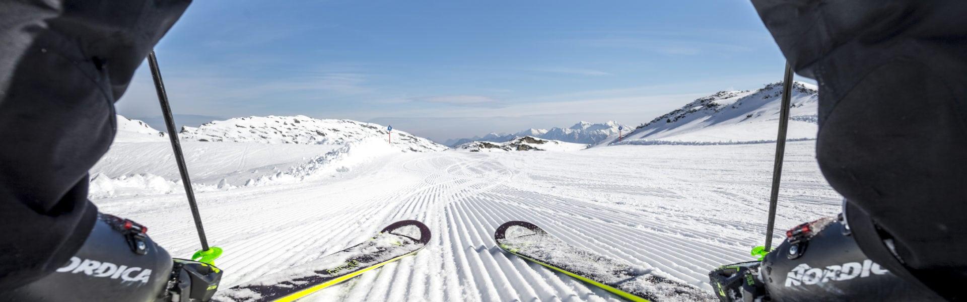 Skifahren am Ifen © Dominik Berchtold/Kleinwalsertal Tourismus eGen
