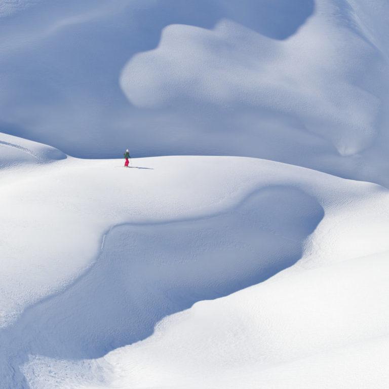 Freeriderin Abfahrt Gehrengrat Lech-Arlberg © Josef Mallaun / Vorarlberg Tourismus