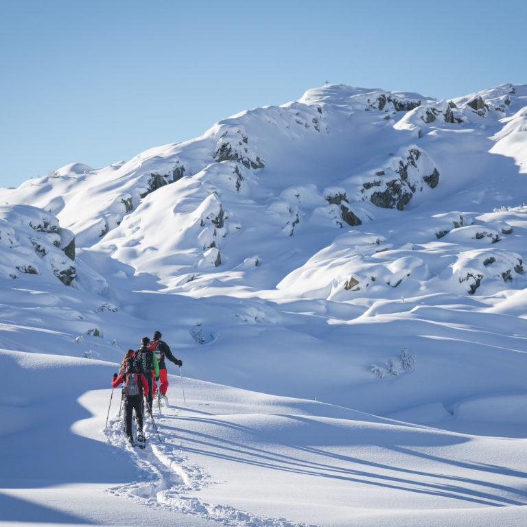 Schneeschuhtour Sonnenkopf zum Muttjoechle © Dietmar Denger / Vorarlberg Tourismus