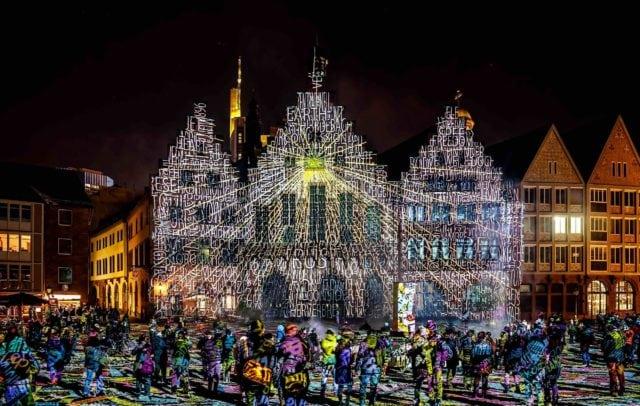 Philipp Geist: »Frankfurt Fades«, Luminale Frankfurt, 2018 Foto Frank Baudy, © Philipp Geist / Bildrecht 2018
