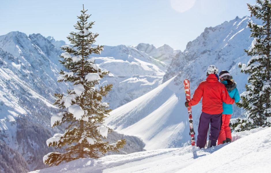 Aussicht beim Skifahren im Brandnertal © Michael Marte / Bergbahnen Brandnertal