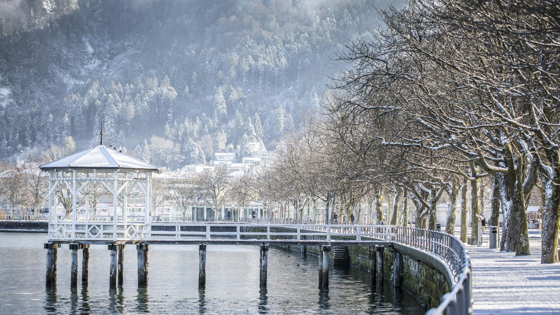 Bregenz im Winter © Petra Rainer, Bodensee-Vorarlberg Tourismus