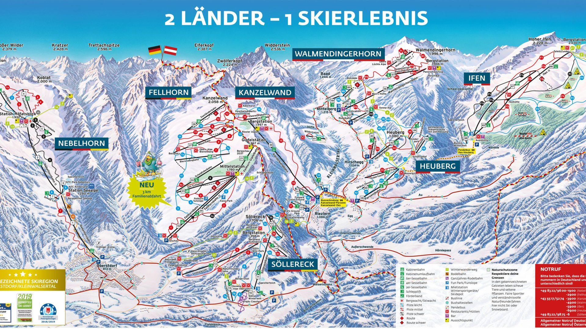 Vorarlberg Karte Berge.Skigebiete In Vorarlberg Familiär Modern Schneesicher