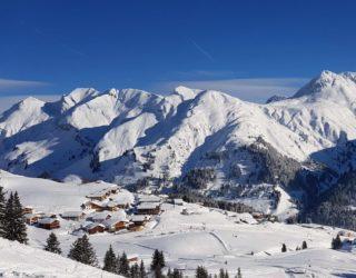 15.1.2019, Ortsansicht Lech und Skigebiet Arlberg (c) Lech Zuers Tourismus by Markus Hahn