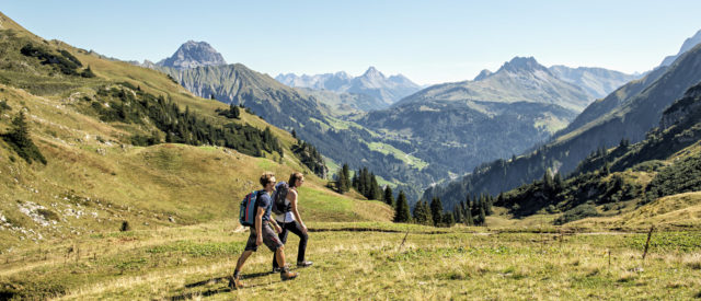 Hiking in the Bregenzerwald © Christoph Lingg /Bregenzerwald Tourismus