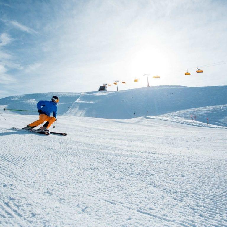 Skifahren im Montafon, Sonnenski (c) Daniel Zangerl, Motnafon Tourismus GmbH