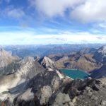 Blick vom Gipfel Richtung Lünersee und Zimba