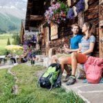 Kurze Pause auf der Unteren Brüggele Alpe