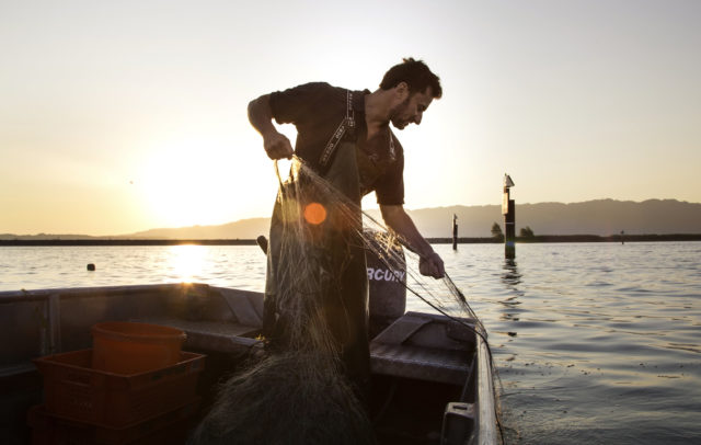 Franz Blum fischt gerade © Joachim Negwer / Vorarlberg Tourismus