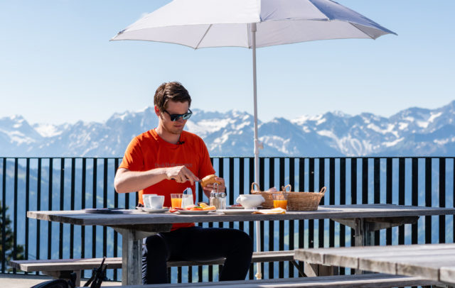 Frühstück Bergrestaurant Baumgarten im Bregenzerwald © Oostenrijk TV