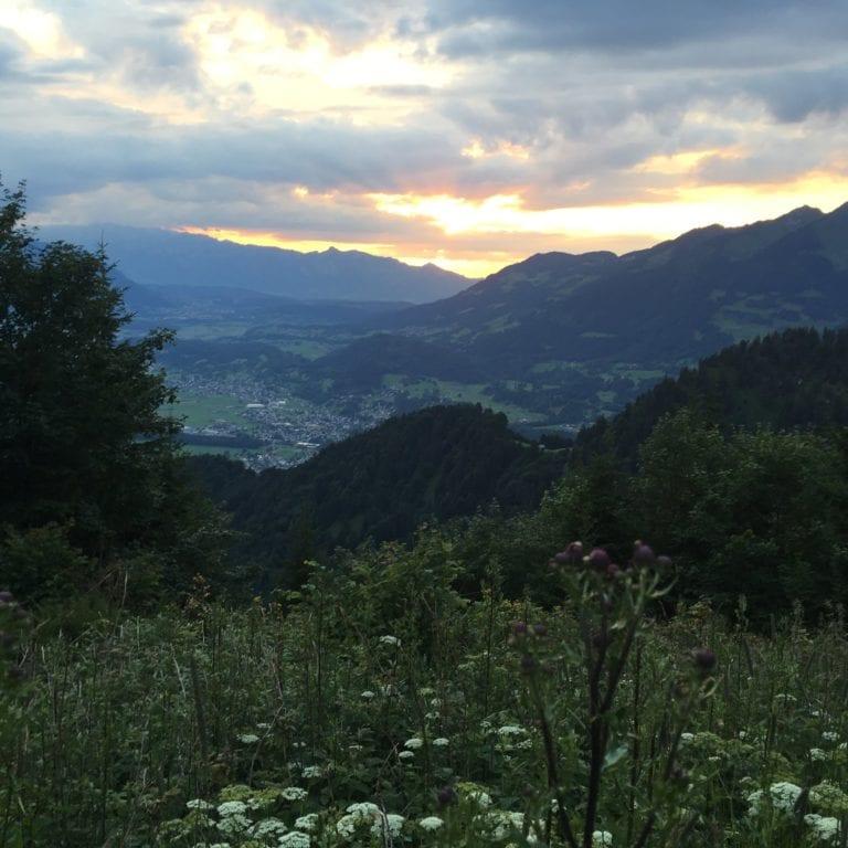 Sonnenuntergang am Muttersberg (c) Alpenregion Bludenz Tourismus GmbH