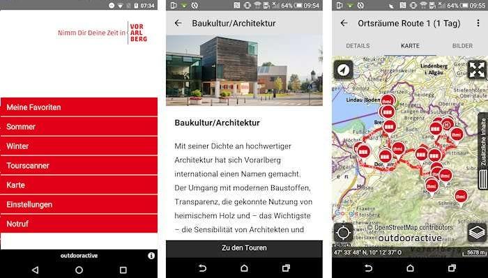 Vorarlberg App, Urlaub und Freizeit, 2019 (c) Vorarlberg Tourismus GmbH