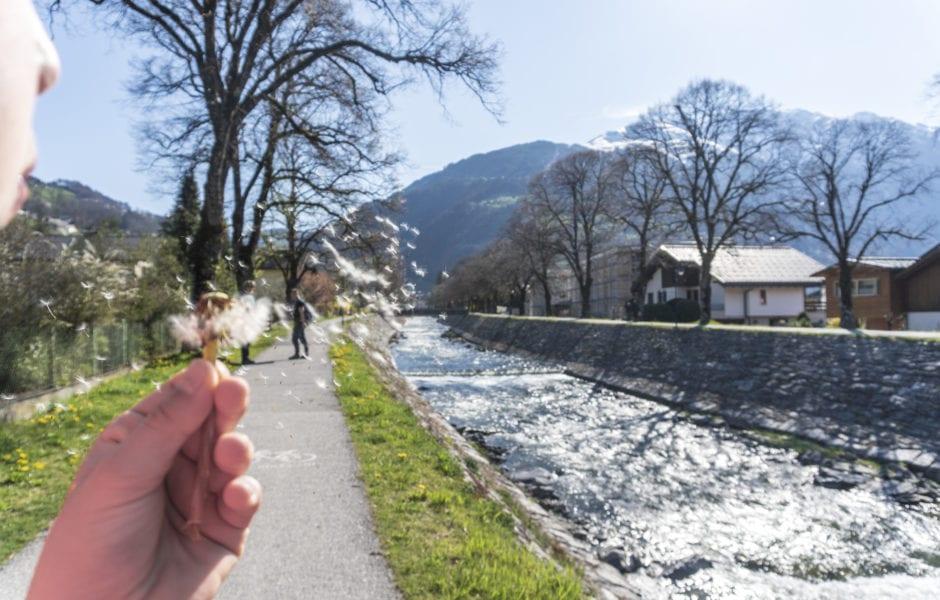 Montafon Illweg Fruehlingswanderung Litzdamm 9 (c) Vorarlberg Tourismus-Agnes Ammann