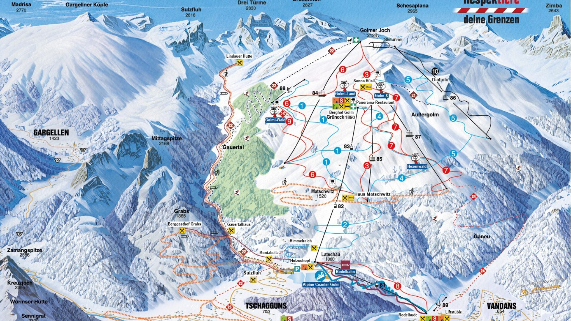 Gesperrte skigebiete