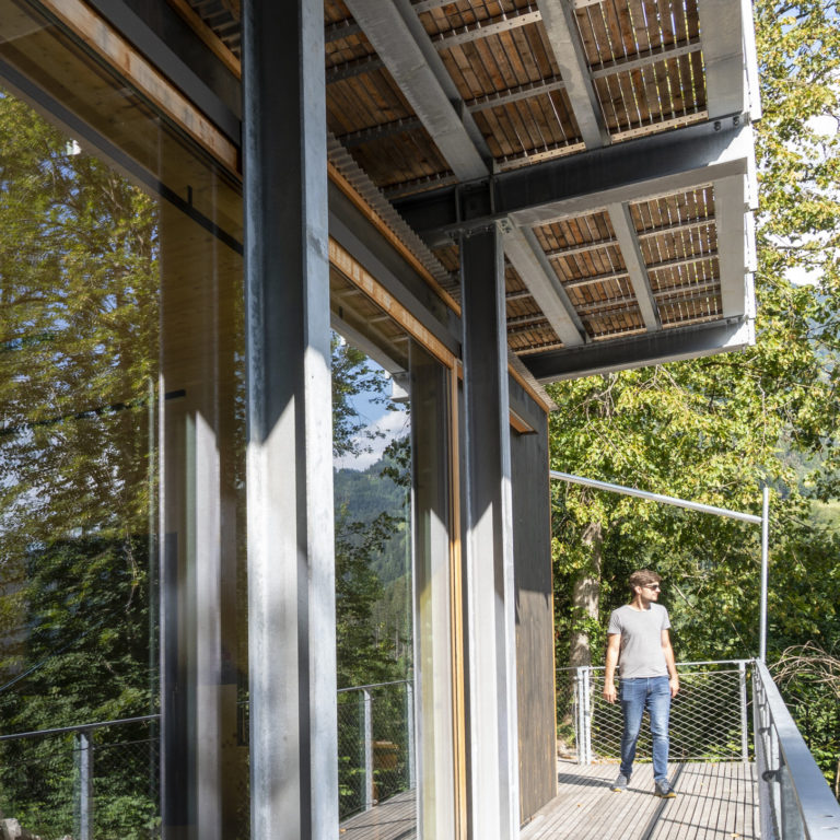 Kulturpavillon Burgruine Blumenegg © Agnes Ammann / Vorarlberg Tourismus
