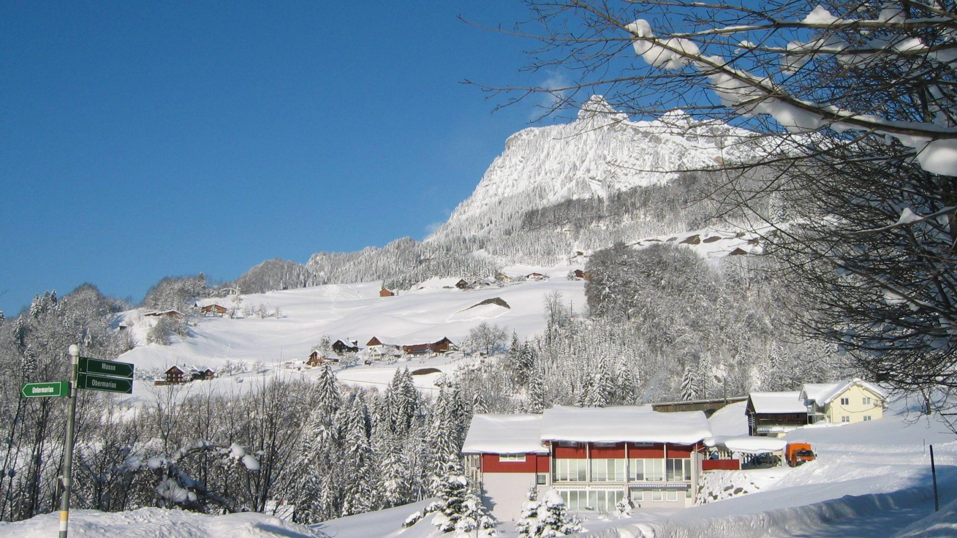 Winterlandschaft in Dalaas