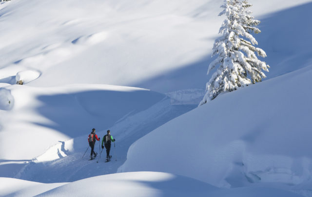 Schneeschuhtour Sonnenkopf zum Muttjoechle (c) Dietmar Denger - Vorarlberg Tourismus