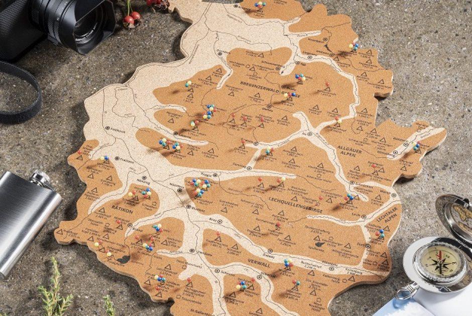 Alpen(s)pinner - Vorarlberg-Karte zum Pinnen (c) Alpen(s)pinner