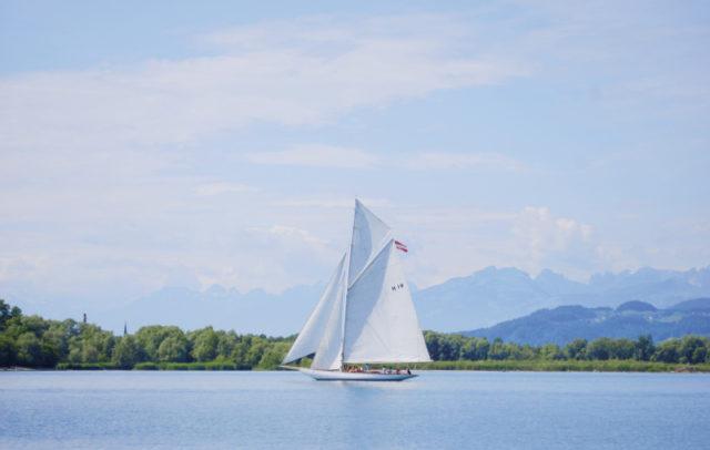 Segeln auf dem Bodensee bei Lochau