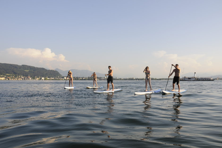 Stand up paddeln (SUP) am Bodensee (c) Canyoning Team Vorarlberg