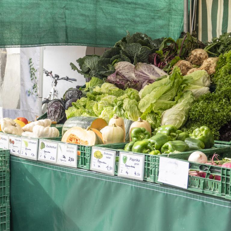 Gemüse Wochenmarkt Feldkirch © Agnes Ammann / Vorarlberg Tourismus