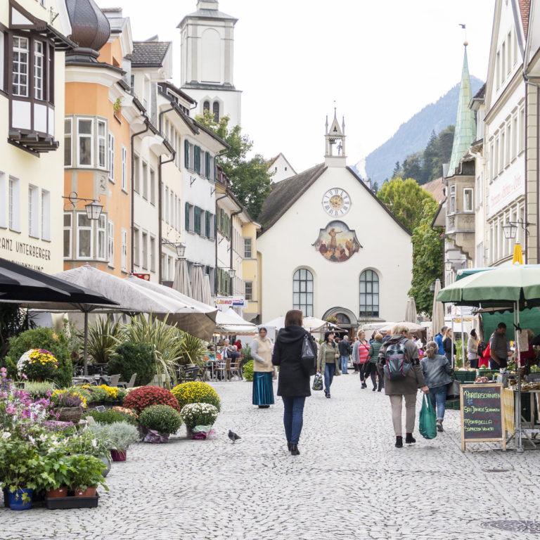 Wochenmarkt Feldkirch © Agnes Ammann / Vorarlberg Tourismus