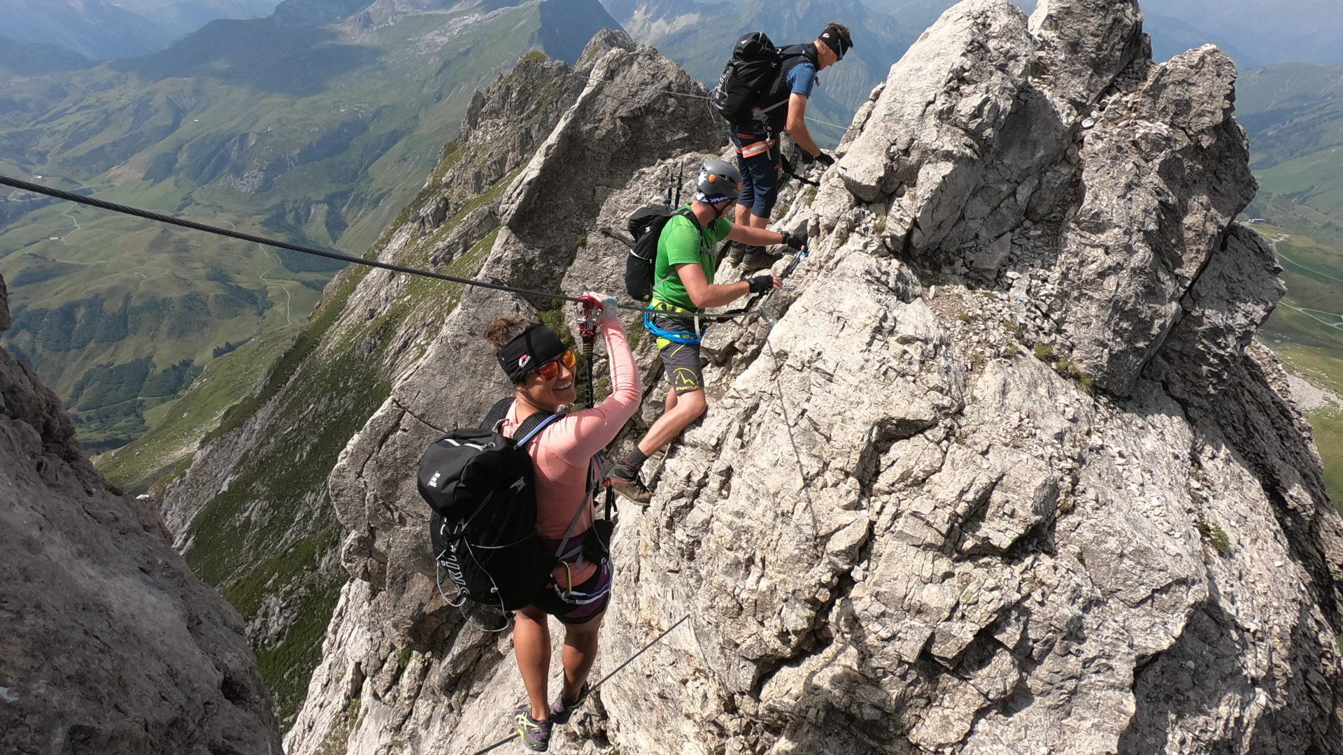 Klettersteig am Karhorn in Warth