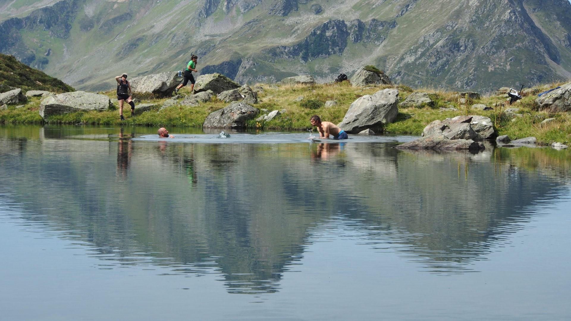 Schwimmen im Gretschersee