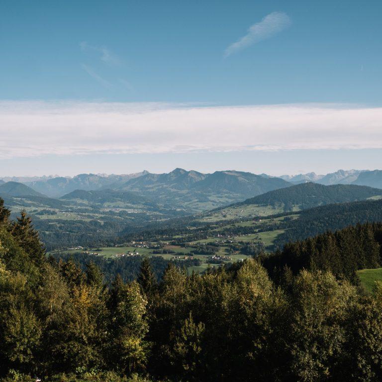 Aussicht Pfänder Richtung Bregenzerwald © Nina Bröll / Vorarlberg Tourismus